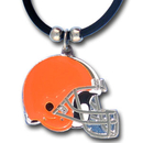 Siskiyou Buckle FPR025 Cleveland Browns Rubber Cord Necklace