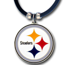 Siskiyou Buckle FPR160 Pittsburgh Steelers Rubber Cord Necklace