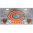 Siskiyou Buckle FVP005 Chicago Bears Collector's License Plate