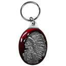 Siskiyou Buckle KR115E Key Ring - Indian Chief