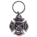 Siskiyou Buckle KR12E Key Ring - Fire Dept. Maltese Cross