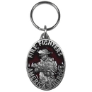 Siskiyou Buckle KR219E Key Ring - Fire Fighters America's Hero's
