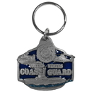 Siskiyou Buckle KR9E Key Ring - U. S. Coast Guard