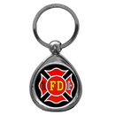 Siskiyou Buckle KTF20C2 Firefighter Chrome Key Chain