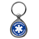 Siskiyou Buckle KTFE50CA EMS Chrome Key Chain