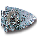 Siskiyou Buckle PN2001E Collector Pin - Arrowhead Indian Chief