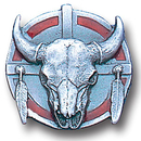 Siskiyou Buckle PN2005E Collector Pin - Buffalo Skull