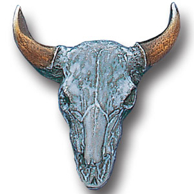 Siskiyou PN2049E Collector Pin - Buffalo Skull