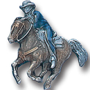 Siskiyou Buckle PN2080E Collector Pin - Cowboy on Running Horse