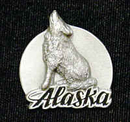 Siskiyou Buckle PN2117E Collector Pin - Alaska Wolf