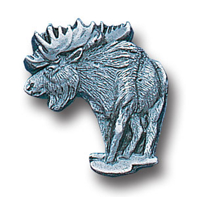 Siskiyou PN2185 Pewter 3-D Collector Pin - Moose