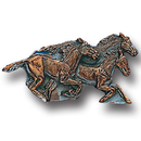 Siskiyou Buckle PN3017E Collector Pin - Running Horses