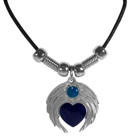 Siskiyou PT238S Earth Spirit Necklace - Heart with Wings