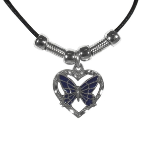 Siskiyou PT242S Earth Spirit Necklace - Butterfly in Heart