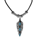 Siskiyou Buckle PT57S Earth Spirit Necklace - Single Feather