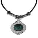 Siskiyou Buckle PT58S Earth Spirit Necklace - Emerald Stone