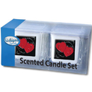 Siskiyou Buckle S2CD23 Candle Set - Double Heart