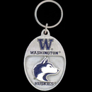 Siskiyou Buckle SCK49 College Team Logo Key Ring - Washington Huskies
