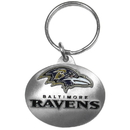 Siskiyou Buckle SFK181 Baltimore Ravens Oval Carved Metal Key Chain
