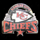 Siskiyou Buckle SFP045C Kansas City Chiefs Glossy Team Pin