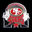 Siskiyou Buckle SFP075C San Francisco 49ers Glossy Team Pin