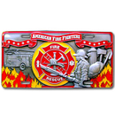 Siskiyou Buckle SVP5 Fire Fighter - 3D License Plate