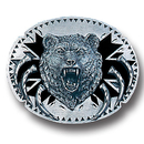 Siskiyou Buckle V92D Grizzly Head with Claws - Enameled Belt Buckle
