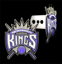 Siskiyou Buckle XBTHS005S Large Logo-Only NBA Trailer Hitch Cover -Sacramento Kings