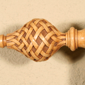 Tapestries, Ltd. CC60 Goldenrod Lattice Finial 8""