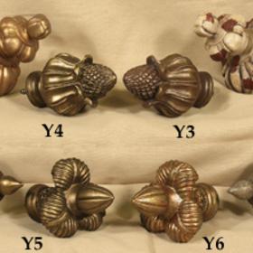 "Tapestries Y5 Bronze Plume Finial - 4"""