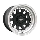 Black Rock BRW909S585340 909 Type-D, 15x8 with 5 on 5 and 5 on 5.5 Bolt Pattern - Tungsten with Black