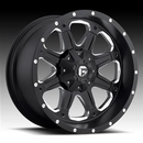 MHT Luxury Alloys MHTD53420901857 D534 Boost, 20x9 with 8 on 180 Bolt Pattern - Black Machined