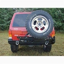 Rockhard 4X4 Parts RFPRH1013 Rear Bumper with Tire Carrier includes 2 Inch Receiver and D-ring Mounts