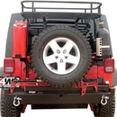Rockhard 4X4 Parts RFPRH5001 Rear Bumper with Tire Carrier includes 2 Inch Receiver and D-ring Mounts
