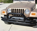 Rampage Products RPP8620 Black Powder Coat Double Tube Front Bumper with Hoop