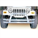 Rugged Ridge RUG11563-01 Dual Tube Front Bumper with Center Hoop