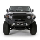 Smittybilt S-B612850 M1 Toyota FJ Cruiser Winch Mount Front Bumper with D-ring Mounts and Light Kit