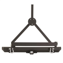 Smittybilt S-B76651D Classic Rock Crawler Bumper and Tire Carrier with Receiver Hitch and D-ring Mounts
