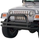 Smittybilt S-BJB44-F 3 Inch Front Tube Bumper with Hoop in Black Powder Coat