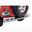 Smittybilt S-BJB44-RHS 3 Inch Rear Tube Bumper with Hitch in Stainless Steel