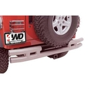 Smittybilt S-BJB44-R 3 Inch Rear Double Tube Bumper without Hitch, Black