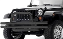Smittybilt S-BJB48-FT 3 Inch Front Double Tube Bumper with Hoop in Textured Black Powder Coat