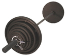 Troy Barbell USA Sports BOSS-300 Olympic 300lb. Weight Set - Black plates, 7' Chrome bar and spring collars
