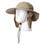 TopTie Neck Flap and Chin Strap Bucket Sun Hat