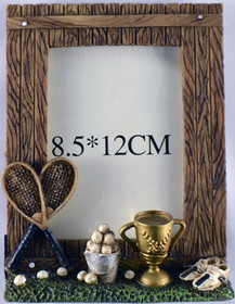 Tennis Picture Frame-Antique