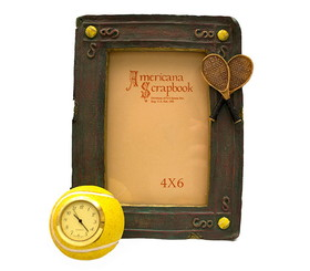 Tennis Picture Frame with Clock