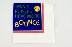 "Tennis Beverage Napkins ""More Bounce"""