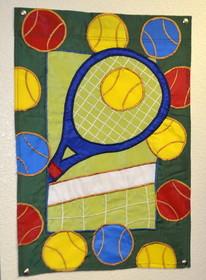 Garden Flag Racquet/Net/Balls