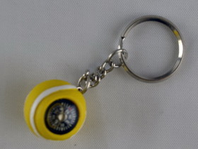 Tennis Ball Key Ring w/ Compass