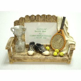 Polystone Tennis Bench Picture Frame